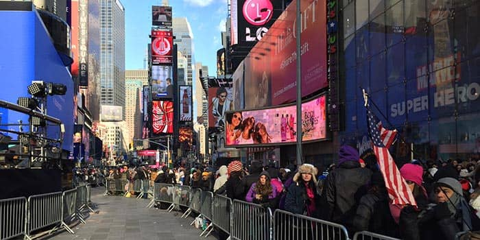New Year's Eve in New York - Times Square