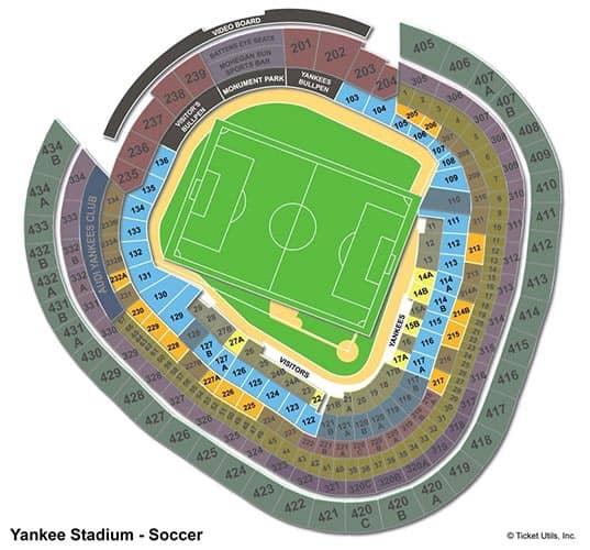 New York City FC - Yankee Stadium Seating Chart