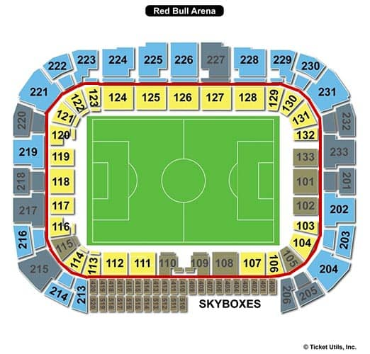 New York Red Bulls Tickets - Red Bull Arena Seating Chart