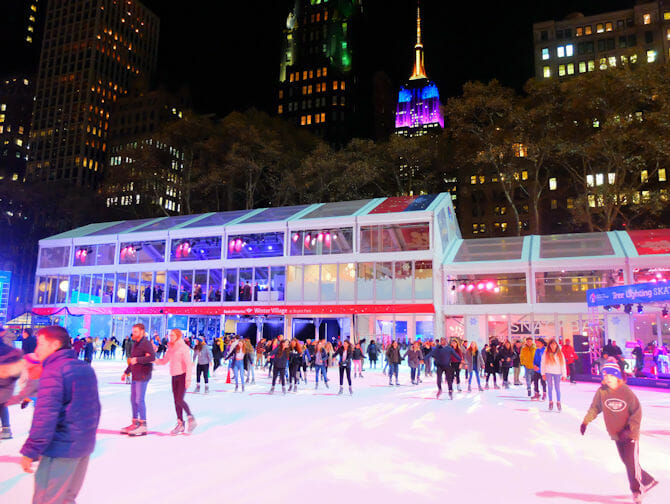 Skating in New York - Bryant Park 2