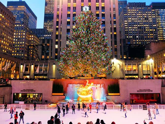 Skating in New York - Skating at Rockefeller Center