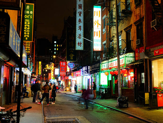 Chinatown in New York - Buildings