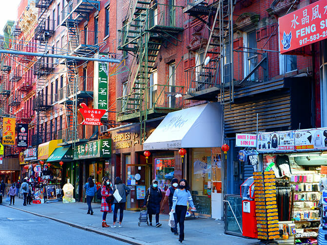 Chinatown in New York - Shops
