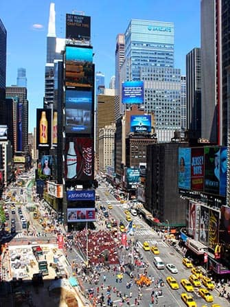 Midtown Manhattan in New York - Times Square