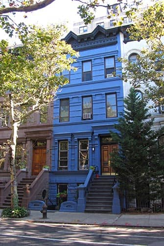 Upper West Side in New York - Blue House