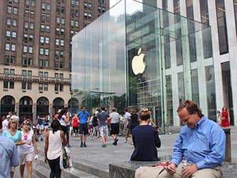 Apple Store on Fifth Avenue in NYC