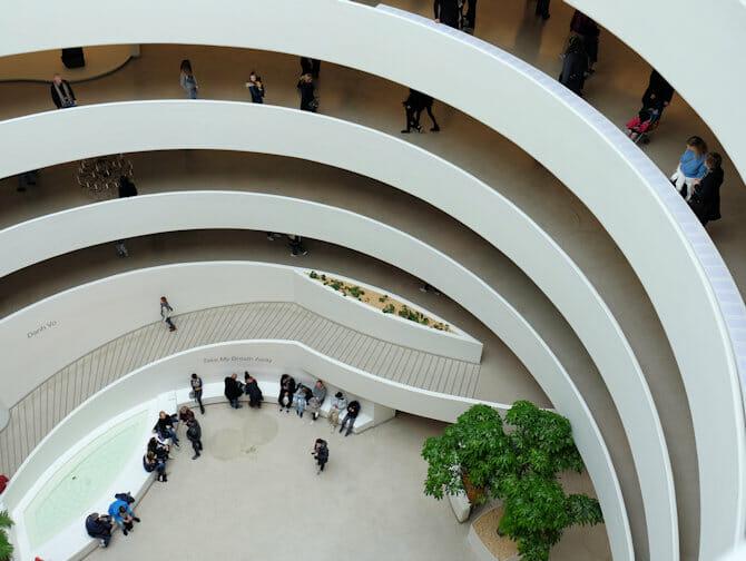 Guggenheim Museum in New York- inside