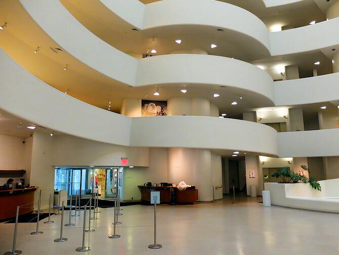 Guggenheim Museum in New York- entrance