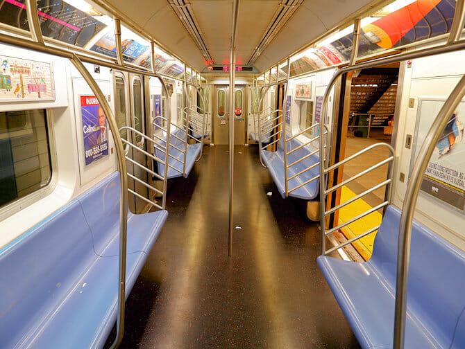New York Subway Train Seats