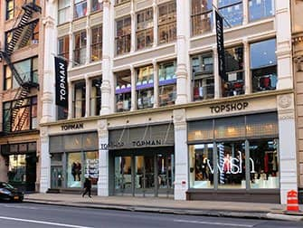 Shopping in SoHo - Topshop