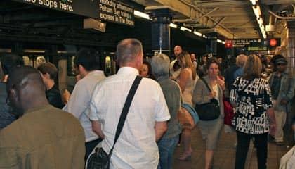 Subway Rush Hour New York