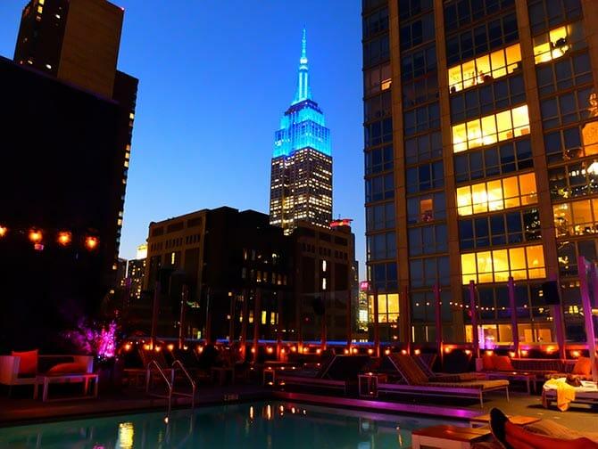 Pool Royalton Hotel - New York Midtown Nightlife
