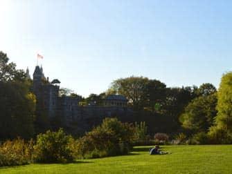 Central Park in New York - Belvedere Castle summer