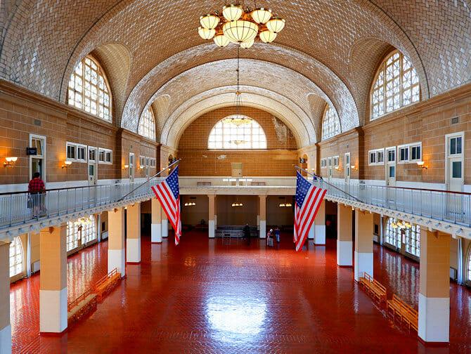 Ellis Island in New York - Registry Room