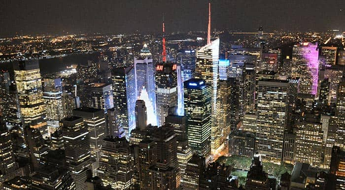 Empire State in New York - view at night