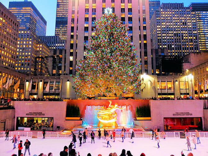 Rockefeller Center in New York - Ice rink