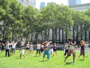 Dancing in Bryant Park
