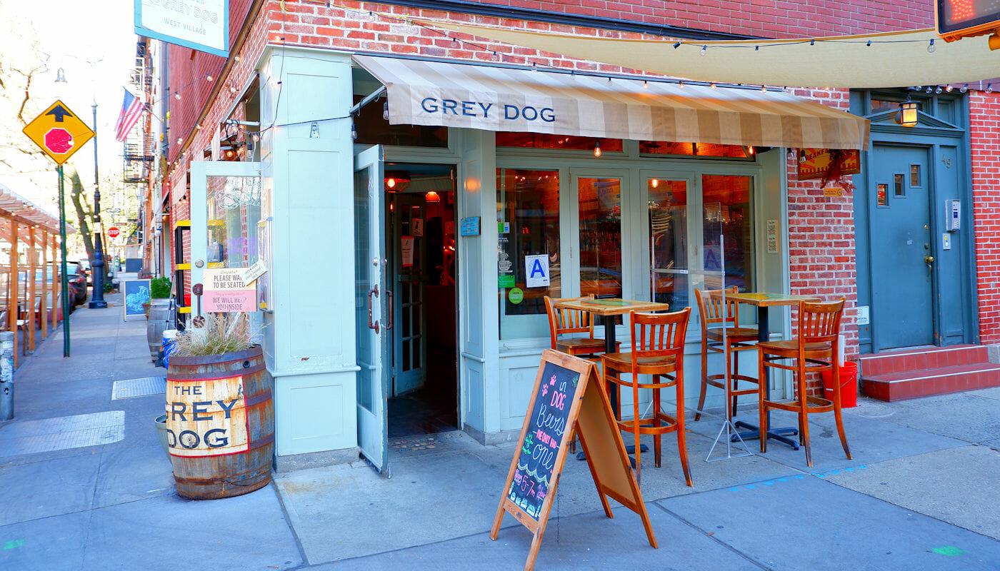 Grey Dog in New York