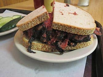 Lunch in New York - Pastrami sandwich