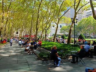 Parks in New York - Bryant Park Terrace