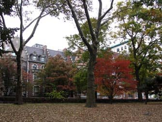 Parks in New York - Riverside Drive from Riverside Park