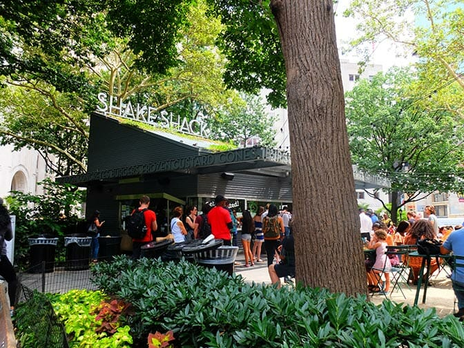 Parks in New York - Shake Shack at Madison Square Park