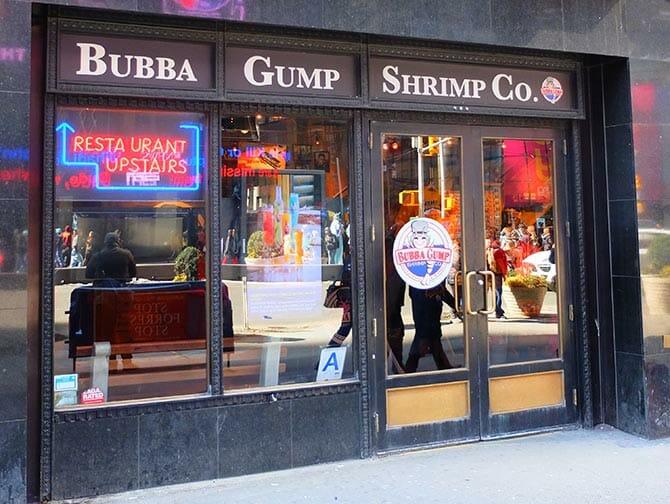 Theme Restaurants New York - Bubba Gump