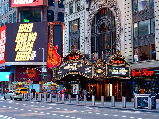 Theme Restaurant in New York - Hard Rock Cafe