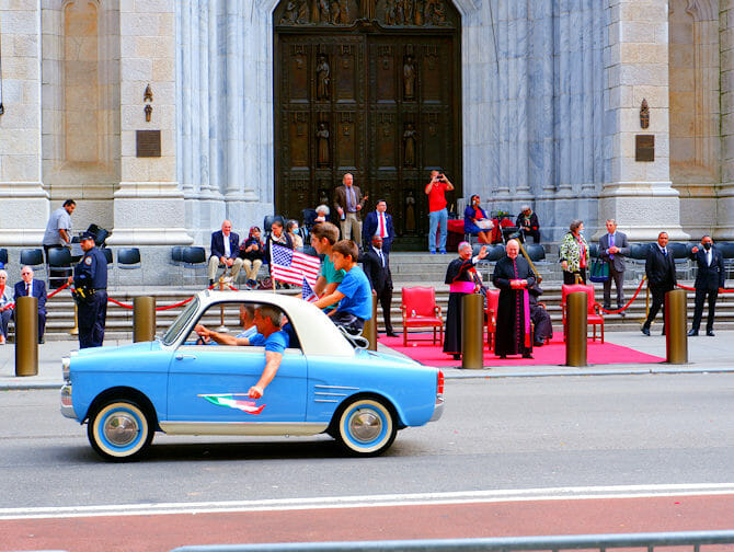 Columbus Day in New York - Italian students