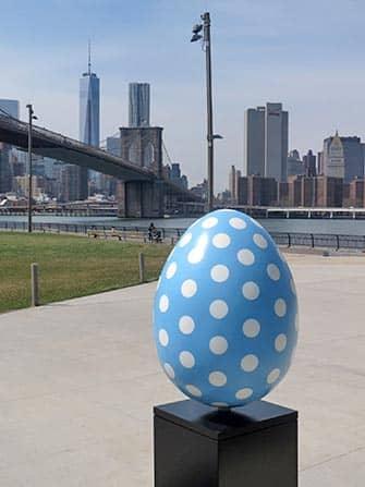 Easter in New York - Blue Easter Egg
