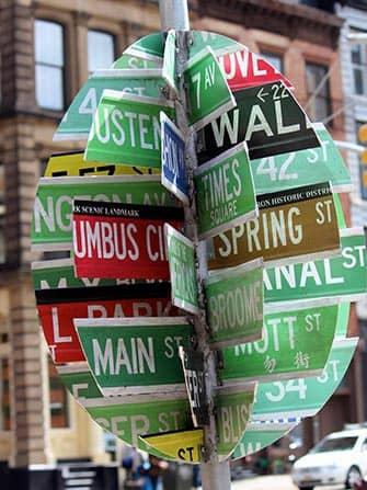 Easter in New York - Street Sign