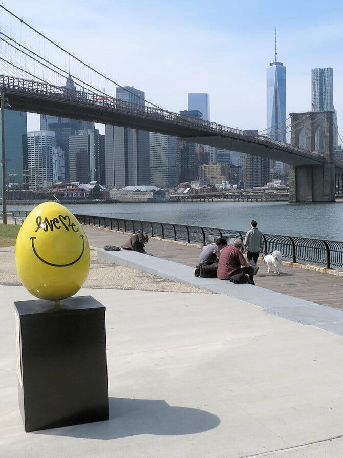 Easter in New York - Yellow Easter Egg