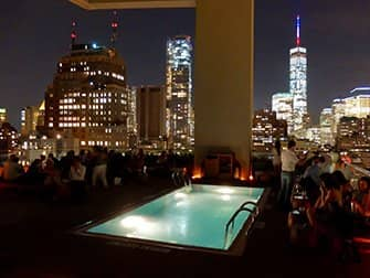 The Best Rooftop Bars of New York - Jimmy Pool