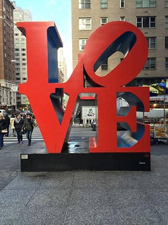 valentines day in new york love sculpture - Valentines Day In Nyc