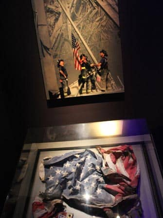 9/11 Museum in New York - american flag