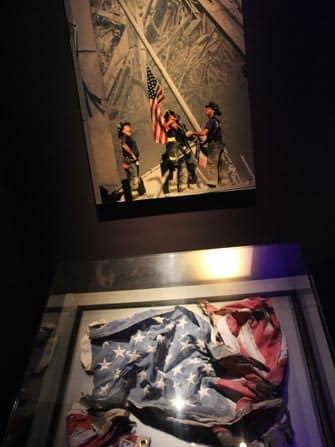 9/11 Museum in New York - american flag
