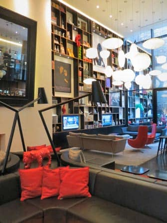 citizenM times square hotel living room in new york city