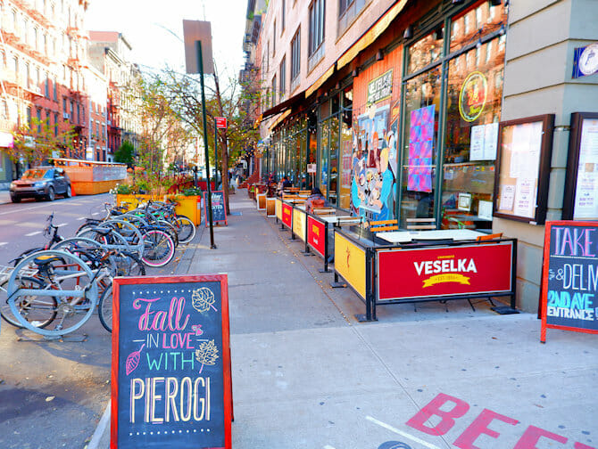 East village 2nd Avenue new york