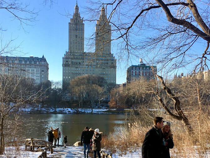 New Years Day in NYC - Ice Skating in Central Park