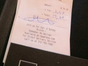Tipping with Credit Card in New York