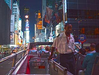 Big Bus in New York at night