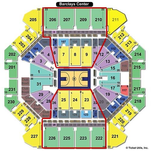 Brooklyn Nets - Barclays Center Seating Chart