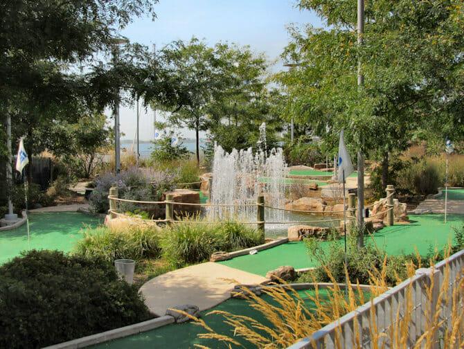 Mini Golf at Pier 25 in TriBeCa New York