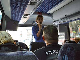 New York TV and Movie Sites Tour - Guide in Tour bus