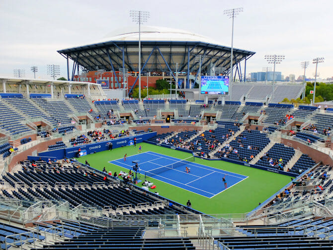 US Open Tennis Tickets - Arthur Ashe Stadium from Grandstand