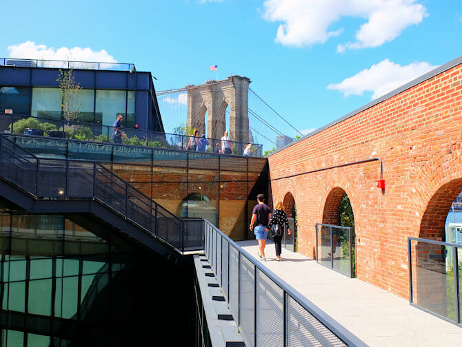 Brooklyn Bridge Park in New York - Empire Stores Roof