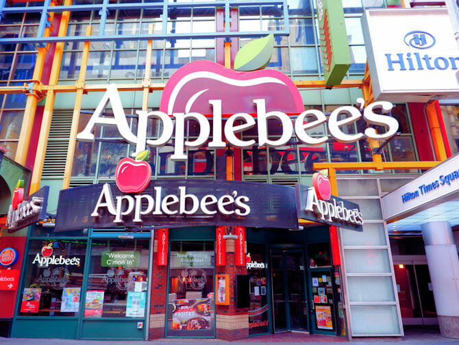 Where to eat with children in New York - Applebees