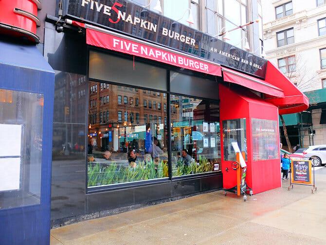 Hells Kitchen in NYC - Five Napkin Burger