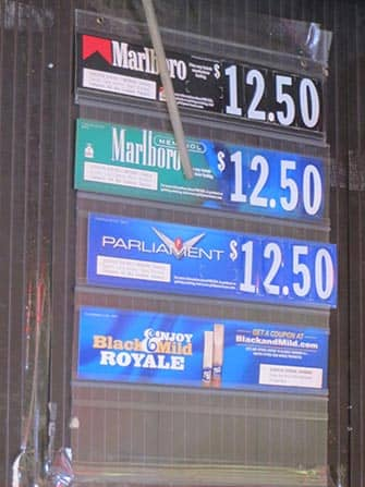 Smoking in New York - Prices