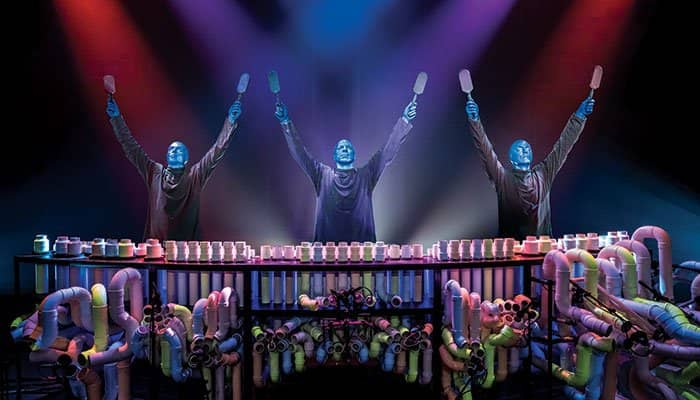 Blue Man Group Tickets in New York - Arms Up